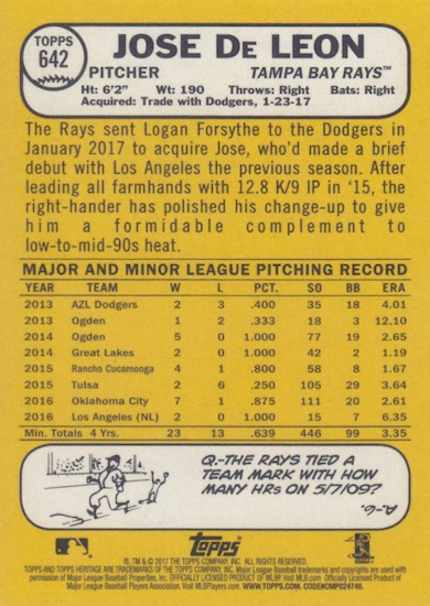 2017 Topps Heritage High Number Baseball Variations Guide 145