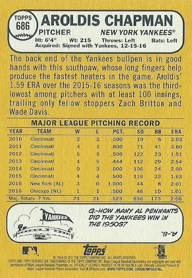 2017 Topps Heritage High Number Baseball Variations Guide 155