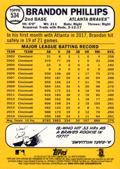 2017 Topps Heritage High Number Baseball Variations Guide 149