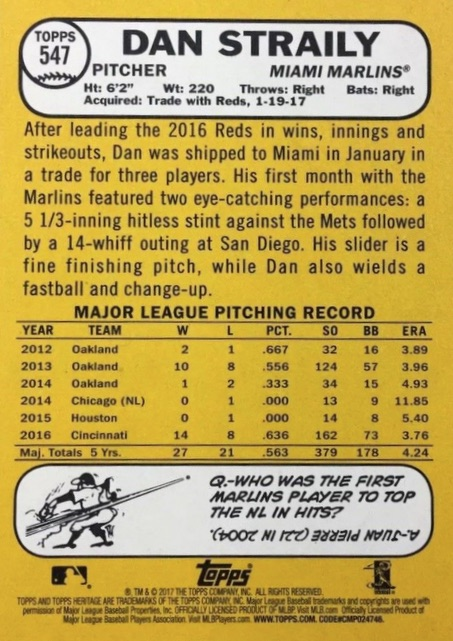 2017 Topps Heritage High Number Baseball Variations Guide 143