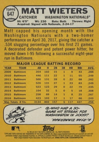 2017 Topps Heritage High Number Baseball Variations Guide 146