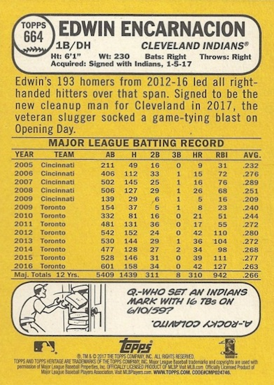 2017 Topps Heritage High Number Baseball Variations Guide 154
