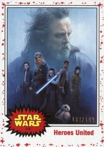 C2377 The Last Jedi #32 Topps 2017 Trade Card Journey To Star Wars