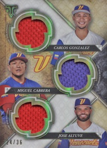 2017 Topps Triple Threads Baseball Cards 37