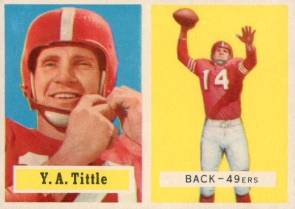 Top 10 Y.A. Tittle Football Cards 2