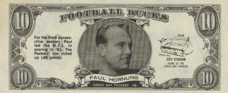 Top 10 Paul Hornung Football Cards 2