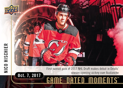 2017-18 Upper Deck Game Dated Moments Hockey