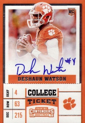 Top Deshaun Watson Rookie Cards to Collect 5