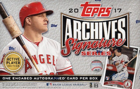 2017 Topps Archives Signature Series Active Player Edition Baseball Cards 3
