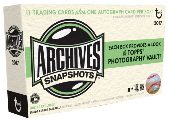 2017 Topps Archives Snapshots Baseball Cards 1