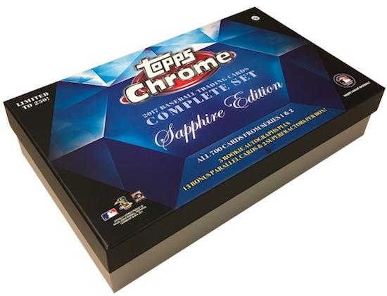 2017 Topps Chrome Baseball Complete Set Sapphire Edition