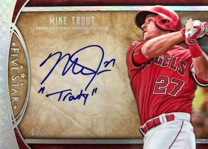 2017 Topps Five Star Baseball