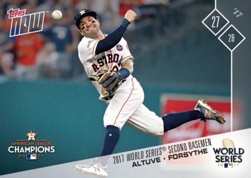 2017 Topps Now World Series Baseball Cards 15
