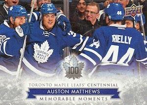 2017 Upper Deck Toronto Maple Leafs Centennial Hockey Cards 22