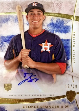 Top George Springer Rookie Cards and Key Prospects 25
