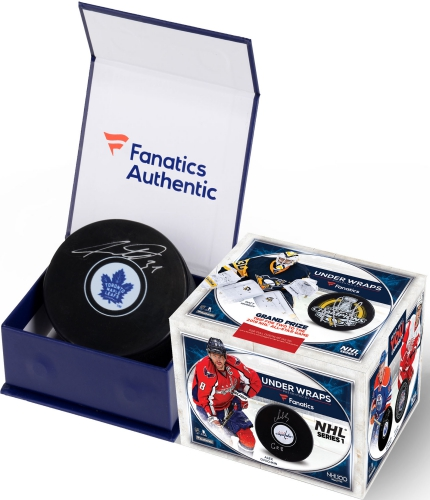2017-18 Fanatics Under Wraps NHL Series 1 Autographed Hockey Puck 1