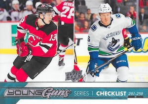 2017-18 Upper Deck Young Guns Guide and Gallery 50