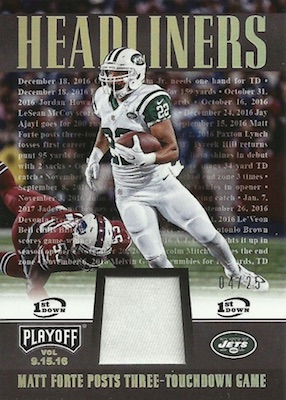 2017 Panini Playoff Football Cards 32