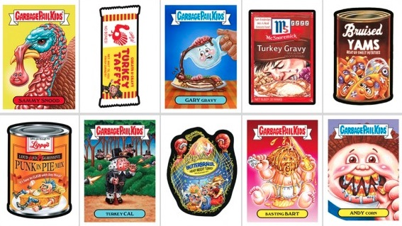 2017 Topps GPK Wacky Packages Thanksgiving Trading Cards 1