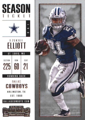 2017 Panini Contenders Football Cards - SP/SSP Rookie Ticket Print Runs Added 27