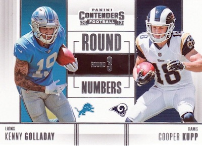 2017 Panini Contenders Football Cards - SP/SSP Rookie Ticket Print Runs Added 41