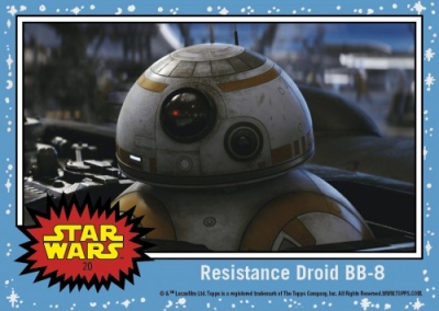 2017 Topps Countdown to Star Wars The Last Jedi