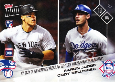 2017 Topps Now Baseball Loyalty Program Cards - Card of the Month Gallery 30