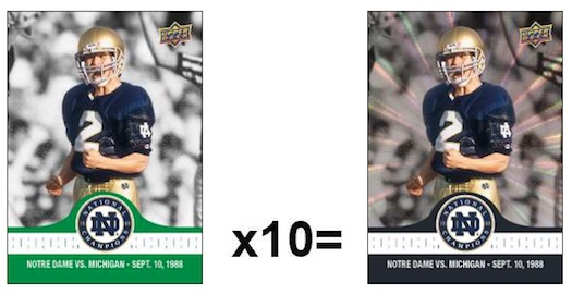 2017 Upper Deck Notre Dame 1988 Champions Football Cards 1