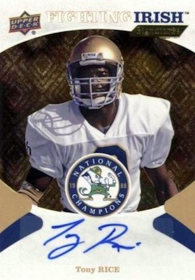 2017 Upper Deck Notre Dame 1988 Champions Football Cards 28