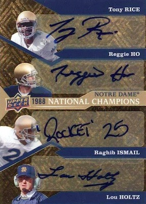 2017 Upper Deck Notre Dame 1988 Champions Football Cards 4