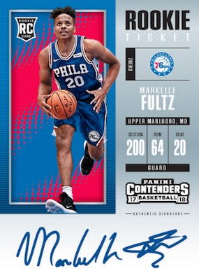 2017-18 Panini Contenders Basketball Checklist, Set Info, Boxes, Date