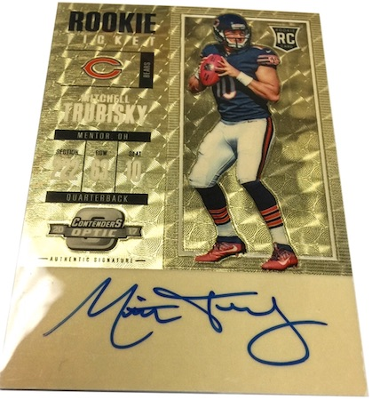 2017 Panini Contenders Optic Football Cards - SP/SSP Rookie Ticket Print Runs Added 4