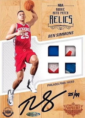 2018 Upper Deck Authenticated NBA Supreme Hardcourt Basketball