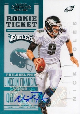 low priced 52507 284ba Top Nick Foles Rookie Cards, Best List, Most Popular ...