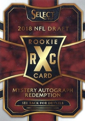 2017 Panini Select Football Cards - XRC Checklist Added 25