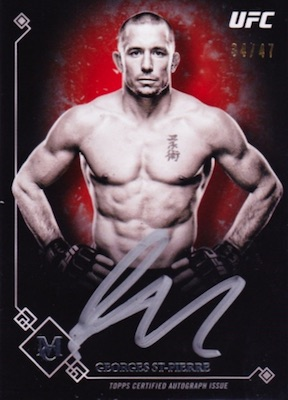 2017 Topps UFC Museum Collection MMA Cards 24