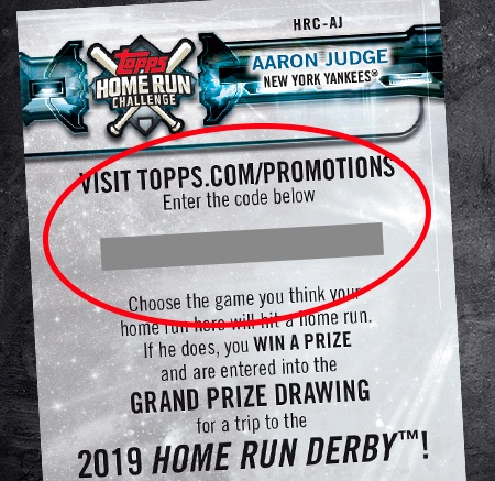 2018 Topps Home Run Challenge Baseball Cards 2