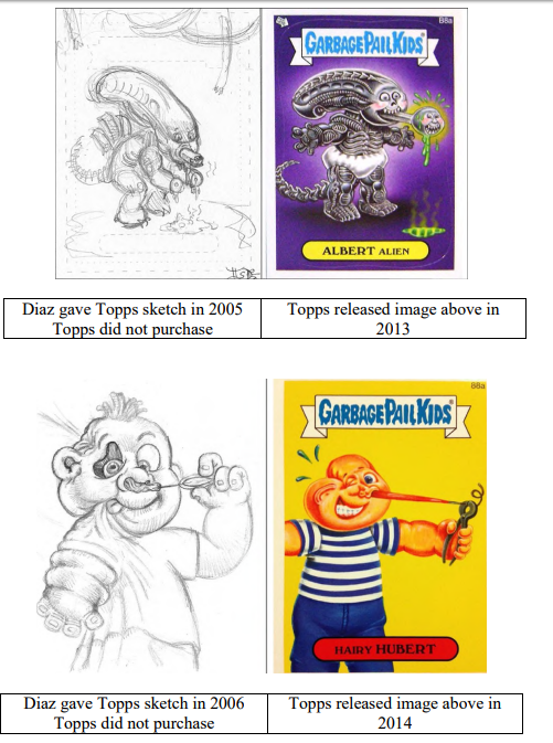Law of Cards: Luis Diaz Alleges Topps' Garbage Pail Kids IP is Itself Garbage 4