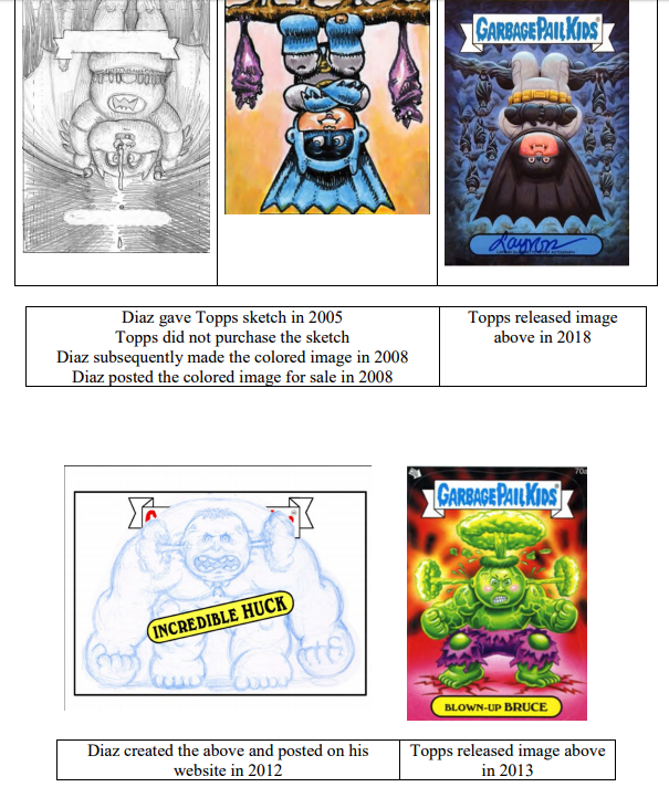 Law of Cards: Luis Diaz Alleges Topps' Garbage Pail Kids IP is Itself Garbage 5
