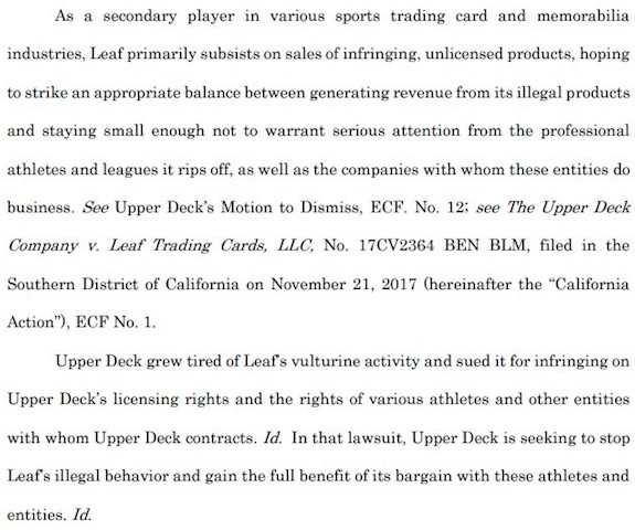 Law of Cards: UD v. Leaf and Leaf v. UD Update 1