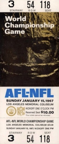 c3d0a9f5 Super Bowl Tickets History, List, Image Gallery, Collecting, Buying ...