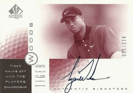 Top Tiger Woods Golf Cards to Collect 7