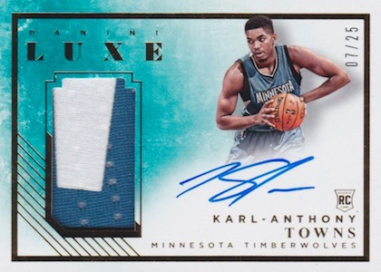 Karl-Anthony Towns Rookie Cards Checklist and Gallery 24