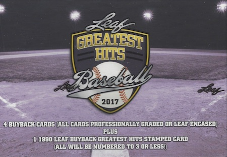 2017 Leaf Greatest Hits Baseball Cards 1