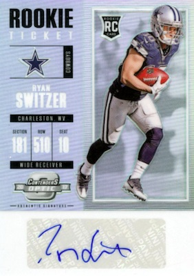 2017 Panini Contenders Optic Football Cards - SP/SSP Rookie Ticket Print Runs Added 25