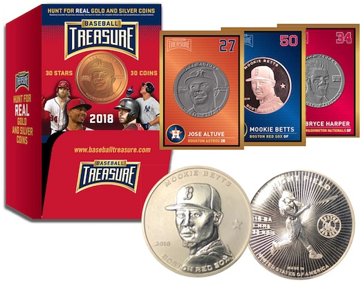 2018 Baseball Treasure MLB Coins 3