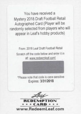 2018 Leaf Draft Football