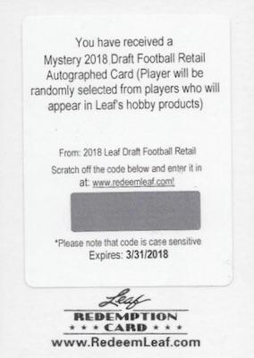 2018 Leaf Draft Football Cards 23