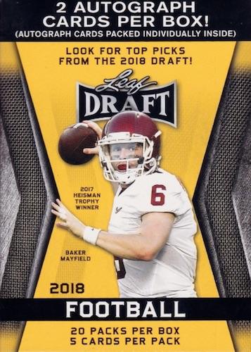 2018 Leaf Draft Football Cards 3