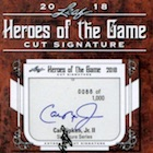 2018 Leaf Heroes of the Game Cut Signature Cards